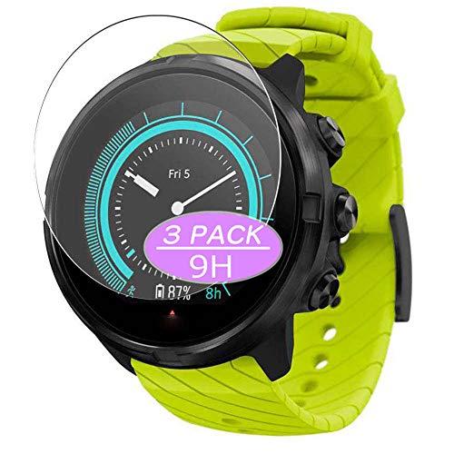 Vaxson 3 Stück 9H Panzerglasfolie, kompatibel mit Suunto 9 G1 smartwatch Smart Watch, Panzerglas Schutzfolie Displayschutzfolie Bildschirmschutz
