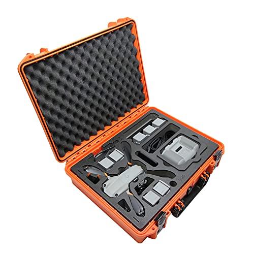 "TOMcase Profi Koffer ""Ready to Fly"" für DJI Mavic Air 2 / Air 2 S Fly More Combo, Standard oder Smart Controller, 8 Akkus   Akkus Laden im Inlay   Outdoor Case wasserdicht IP67 (RTF Koffer Orange)"
