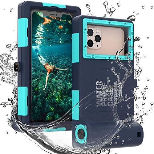 wasserdichte Handyhülle Unterwasser Wasserfeste Handy Wasserschutzhülle [50ft/15m] Handytasche Wasserdicht Schwimmen Baden für iPhone 11 Pro Max XS Max 11 XR 12 Mini 12 12 Pro,Samsung S8 + S9 S9 + S10