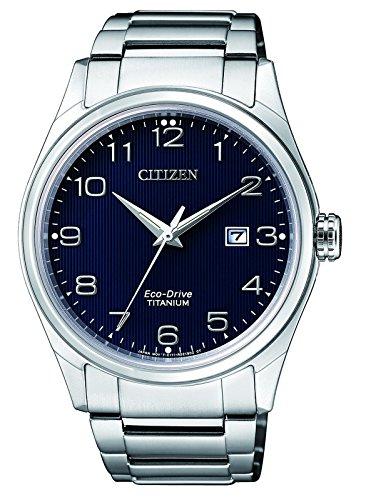 CITIZEN Herren Datum klassisch Solar Uhr mit Titan Armband BM7360-82M