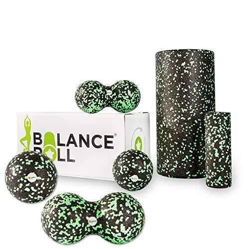 Balance Roll - Kompl.- Set 8 + 12 (Große Rolle/Mini Rolle/Ball 8 / Ball 12 cm/Duoball 8 / Doppelball 12 cm) Faszietraining Set