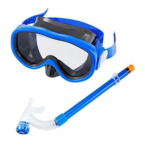 Kinder Kinder Schnorchel Set Tauchmaske Volle Trockene Schnorchel Mit Großen Augen Für Jungen Und Mädchen Junior Schnorchelausrüstung Blau
