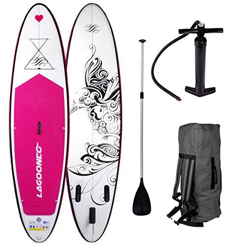 SUP Board Stand up Paddling Surfboard' Kolibri' 300x76x15cm aufblasbar Alu-Paddel Pumpe Rucksack gewebtes Drop-Stitch 115KG Tragkraft