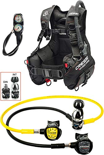Cressi 1946 Start Pro Scuba Set - Int Tauch Diving, Schwarz, M