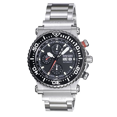 Nautec No Limit Herren-Armbanduhr XL Masterpiece Collection Chronograph Automatik Edelstahl H3