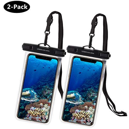 UNBREAKcable Universal Handytasche Wasserdicht - 6,6 Zoll IPX8 wasserdichte Handyhülle (Dry Bag) kompatibel für iPhone X, iPhone 8, iPhone 6, Huawei P30 Pro, Huawei P30 und mehr - 2er Packung