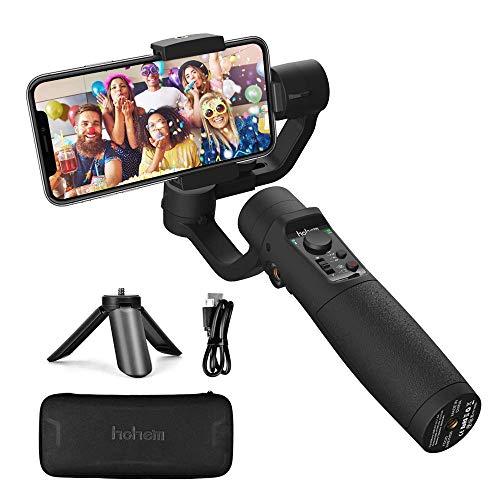 Smartphone Gimbal Stabilisator - Hohem 3-Achsen Handy Gimbal Stabilizer mit Sportmodus Zeitrafferaufnahme Live Videoaufnahme Vlog, 3600mAh Akku, Wasserdicht, für iPhone XR/XS/11, Samsung, Huawei usw.