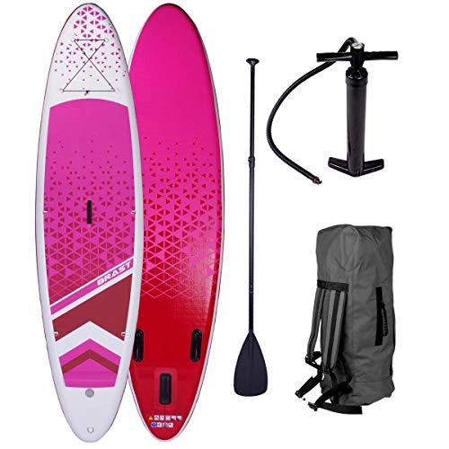 BRAST SUP Board Lady 300cm Stand up Paddling Paddle aufblasbar 2 Modelle Partner-Set Dude + Lady 300-320cm bis 120KG Alu-Paddel