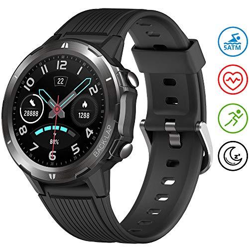 UMIDIGI Smartwatch Uwatch GT Fitness Tracker Armbanduhr Sportuhr Smart Watch für Damen Herren mit Herzfrequenz Schlaftracker 5 ATM Wasserdicht Kompatibel mit Android IOS Xiaomi Samsung Huawei, Schwarz