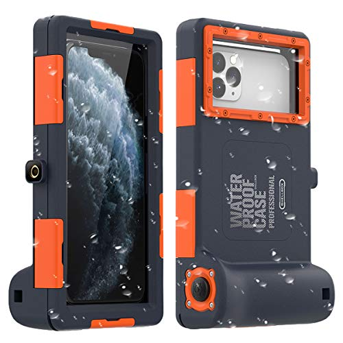 Universal Wasserdichte Handyhülle,Wasserfeste Handytasche Handyschutz Cover Waterproof Case für iPhone 11/11 Pro/11 Pro Max/XR/7/7 Plus/8/8Plus/6 Galaxy S10/9/Note 10/9-15m Unterwasser-Fotografie
