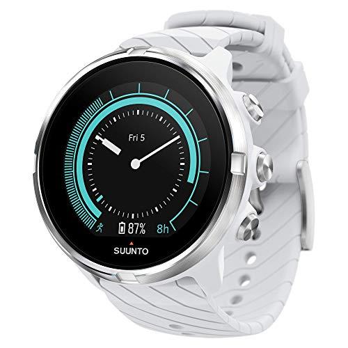 Suunto 9 GPS-Sportuhr mit langer Batterielaufzeit und Herzfrequenzmessung am Handgelenk, Weiß, SS050143000