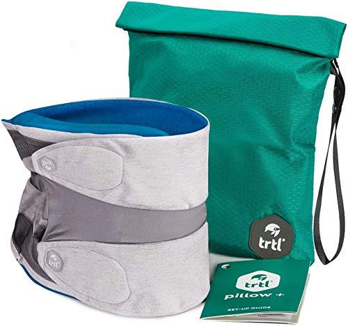 Trtl Pillow Plus- Das Erste Voll Verstellbare Reisekissen (Blau, Eine Größe)