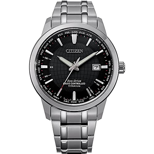 Citizen Men's Analog Eco-Drive Uhr mit Titan Armband CB0190-84E