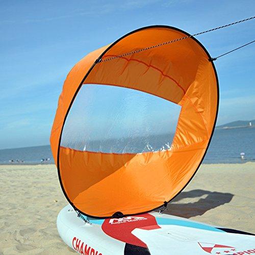 HOOMYA 42'' Abwind Kajak Segel Paddel, Kanu Segel INSTANT Kit - Einfaches Setup & Schnell einsetzbar & Tragbar & Kompakt (Orange)