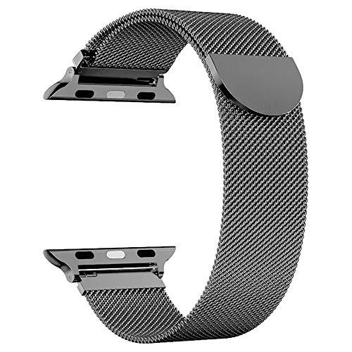 Kensou Ersatzarmband kompatibel mit Apple Watch Armband 44mm 42mm, Edelstahl Metall Armband kompatibel mit Apple Watch Serie 5/Serie 4/Serie 3/Serie 2/Serie 1/Serie 6/Apple Watch SE (Dunkelgrau)