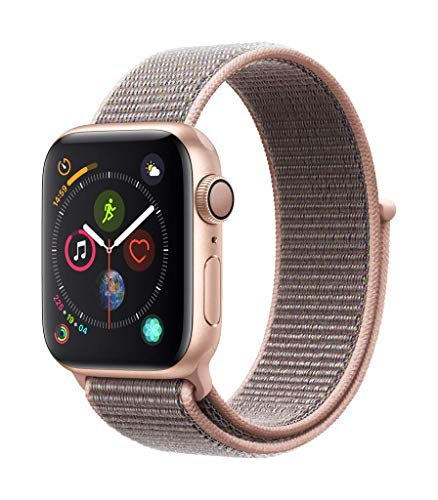 Apple Watch Series 4 (GPS, 40mm) Aluminiumgehäuse Gold - Sport Loop Sandrosa