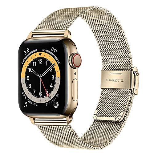 TRUMiRR Ersatz für Apple Watch 38mm 40mm Armband, Mesh Gewebt Edelstahl Uhrenarmband Metall Schnellwechsel Armband für Apple Watch Serie 5/Serie 4/Serie 3/Serie 2/Serie 1/Serie 6/Apple Watch SE