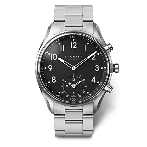 KRONABY APEX Herren Connected Uhren A1000-1426 eine traditionelle Uhr mit Smartwatch Funktionalitäten 43 mm Gehäusedurchmesser Saphirglas 100 M wasserdicht