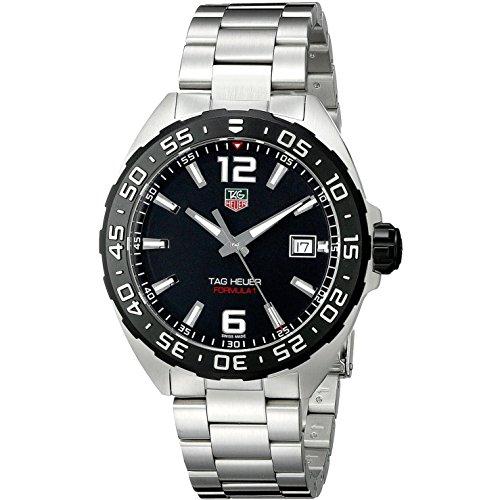 TAG Heuer WAZ1110.BA0875 Armbanduhr, Armband aus Edelstahl, silberfarben