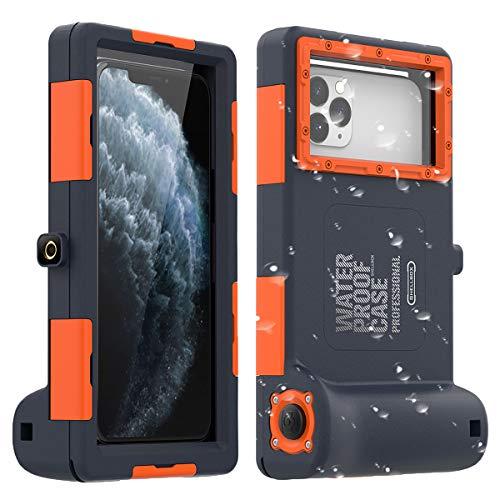AICase Universal-Unterwasser-Fotografie-Gehäuse für iPhone 11/11 Pro/11 Pro Max/XR/7/7 Plus/8/8Plus/6/6S/6S Plus [15 ft/15 m], Tauchhülle für Galaxy S10/S10 Plus/Note 10 Plus/S9 Plus usw.