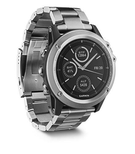 Garmin fenix 3 GPS-Multisportuhr, Smartwatch-, Navigations- und Sportfunktionen, GPS/GLONASS, 1,2 Zoll (3 cm) Farbdisplay, 010-01338-41