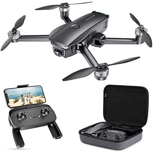 SNAPTAIN SP7100 Faltbare GPS Drohne mit 4K UHD Kamera Live-Video für Erwachsene, Quadcopter mit Bürstenlosem Motor, Intelligente GPS Rückkehr, Follow Me, POI für Anfänger mit 26 Minuten Flugzeit