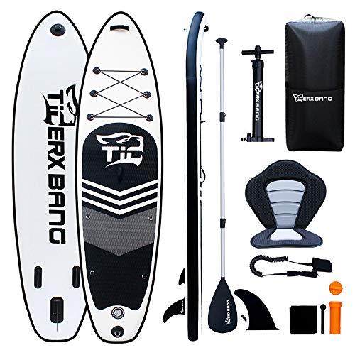 Tigerxbang SUP Board Stand Up Paddling Board | 10'6' 320x80x15cm | Kayak Seat| Komplettes aufblasbares Paddle Zubehör