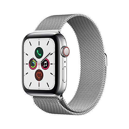 Apple Watch Series 5 (GPS+Cellular, 44 mm) Edelstahlgehäuse - Milanaise Armband