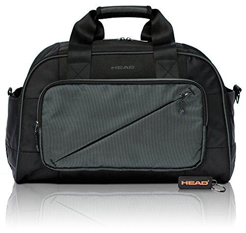 HEAD Lead Reisetasche für Damen und Herren – Kleiner Weekender mit RFID Fach – Reisegepäck 27 L Fassungsvolumen, Schwarz