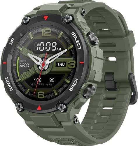Amazfit Smartwatch T-Rex 1,3 Zoll Outdoor digitale Uhr wasserdichte Sportuhr mit militärischem Qualitätsstandard, GPS, Schlafmonitor, 14 Sportmodi