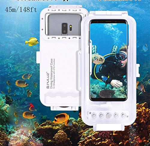 Egurs Universal Tiefseetauchen-Telefon-Kasten 45m / 147ft Foto-Video, das Wasserdichten Schutz-Kasten für Androide OTG Smartphones unter 6.5inch mit Art-C Hafen nimmt