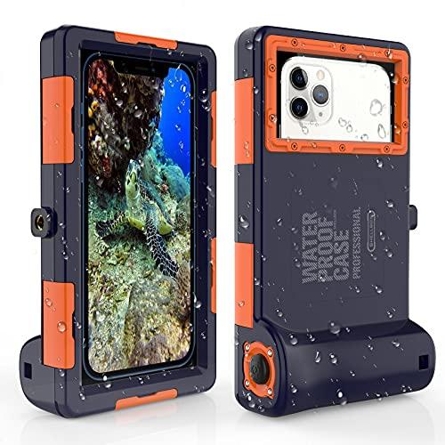 ShellBox wasserdichte Handyhülle Unterwasser Wasserfeste Handy Wasserschutzhülle Handytasche Wasserdicht Schwimmen Baden für iPhone 11 Pro Max XS Max 11 XR 12 Mini 12 12 Pro,Samsung S8 + S9 S9 + S10