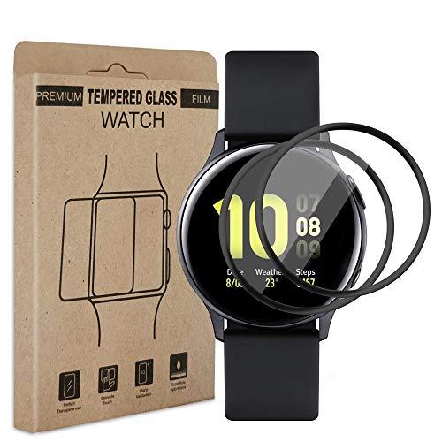 Carantee Schutzfolie [2 Stück] Kompatibel mit Samsung Galaxy Watch Active 2 (40mm), 3D Vollabdeckung Kante Displayschutzfolie, HD Klar Anti-Kratzer Blasenfrei Folie