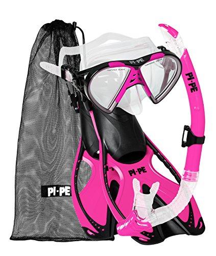 PI-PE Schnorchelset Active Schnorchel-Set (Pink, S-M)
