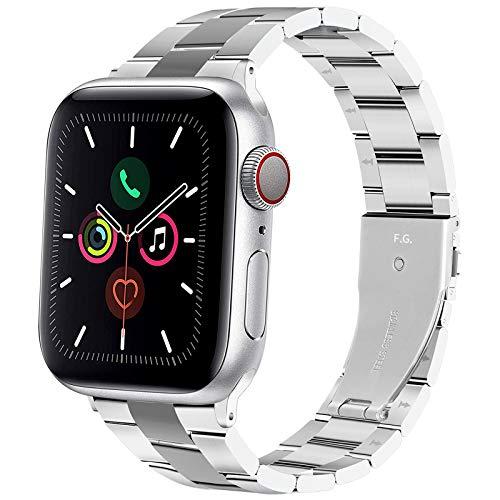 Fullmosa Edelstahlarmband für Apple Watch Armband 44mm 40mm 42mm 38mm, Metall Uhrenarmband Kein Werkzeug Erforderlich, Edelstahl Ersatzband für Apple Watch SE & für iWatch Series 6/Series 5/4/3/2/1