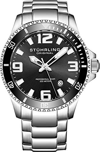 Stuhrling Original Herren-Armbanduhr Analog Quarz 395.33B11