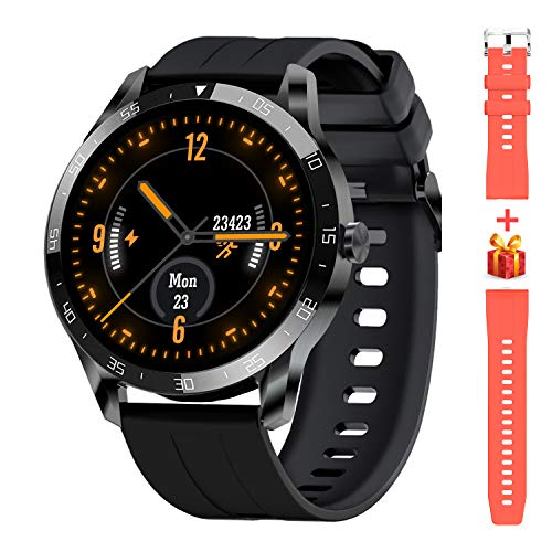 Blackview Smartwatch,1.3 Zoll Touch-Farbdisplay Fitness Armbanduhr mit Pulsuhr Fitness Tracker 5ATM Wasserdicht Sportuhr Smart Watch mit Schrittzähler, Stoppuhr, Schlafmonitor für Herren Damen