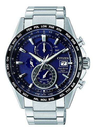 Citizen Herren Chronograph Solar Uhr mit Titan Armband AT8154-82L