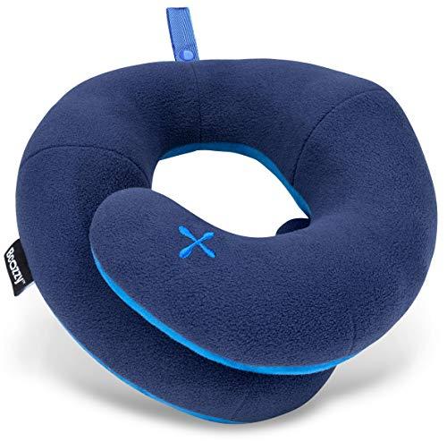 BCOZZY Kinnstütz-Reise-Nackenkissen - Unterstützt den Kopf, Hals und das Kinn bei maximalem Komfort in jeder Sitzposition. Ein patentiertes Produkt. Erwachsenen Größe, MARINEBLAU