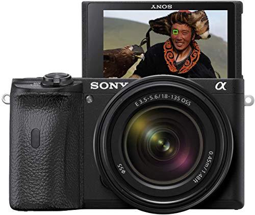 Sony Alpha 6600 | APS-C Spiegellose Kamera mit Sony 18-135mm f/3.5-5.6 Zoom-Objektiv (Schneller 0,02s AF, optische 5-Achsen-Bildstabilisierung, 4K HLG Videoaufnahmen, neigbares Display für Vlogging)