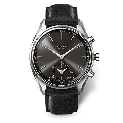 KRONABY SEKEL Herren Hybrid Smartwatch A1000-0718 eine traditionelle Uhr mit Smartwatch Funktionalitäten 43mm Gehäusedurchmesser Saphirglas 100 Meter wasserdicht