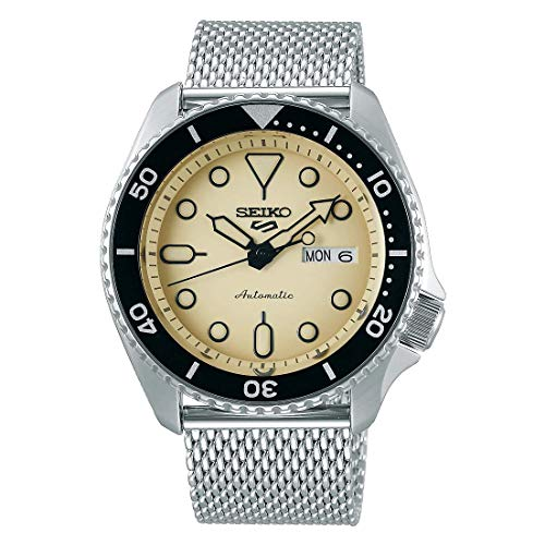 Seiko 5 Suits Herren-Uhr Edelstahl mit Metallband SRPD67K1