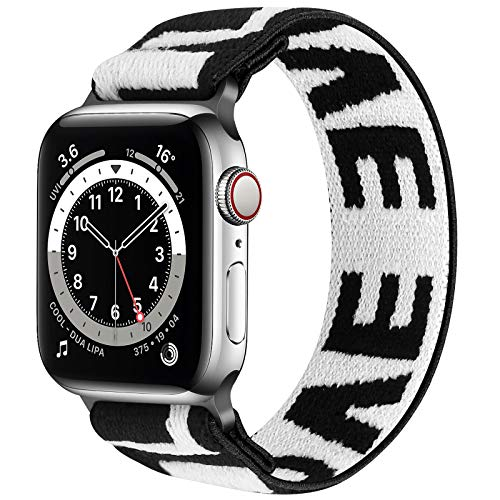 Neoxik Solo Loop Straps Kompatibel mit Apple Watch Armband, Nylon Sport Bands für IWatch Series 6/SE/5/4/3/2/1