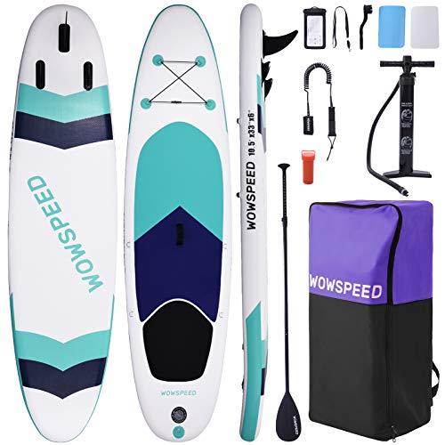 OneV FT Stand Up Paddling Board Aufblasbar 320 * 83 * 15CM, 8.7KG SUP Board Set, Leichtgewicht Surfboard Set, Komplettes ZubehöR Kanu Aufblasbar, Surfbrettset, Pumpe