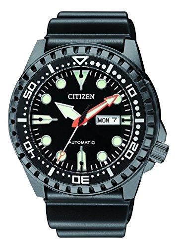 Citizen Herren Analog Mechanisch Uhr mit Kunststoff Armband NH8385-11EE