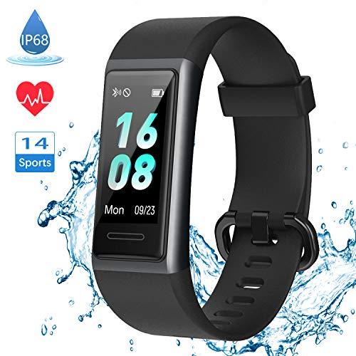 LIFEBEE 【Neuestes Modell】 Fitness Armband, Smartwatch Fitness Tracker mit Pulsmesser Schrittzähler Uhr Wasserdicht IP68 Sportuhr Pulsuhr Fitness Uhr für Damen Herren Smart Watch Uhr für Android iOS