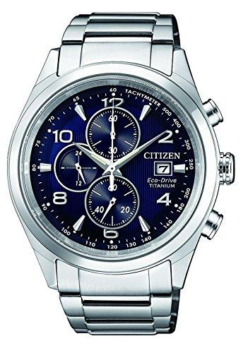 CITIZEN Herren Chronograph Solar Uhr mit Titan Armband CA0650-82L