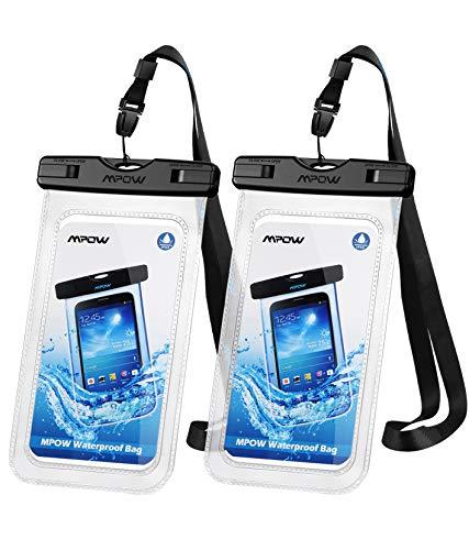 Mpow Wasserdichte Handyhülle Waterproof Phone Case 7,0 Zoll (2 Stück) Handy Wasserschutzhülle DOPPELT VERSIEGELT für Schwimmen, Baden und Kochen, iPhone 12pro/12pro max/iPhone 11/iPhone 8/Galaxy S20