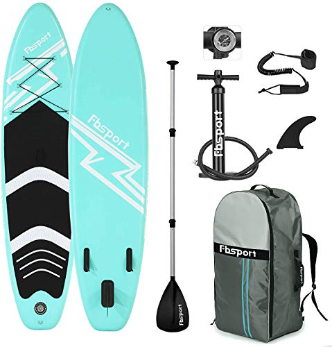 FBSPORT SUP Board,Stand Up Paddle Board,Aufblasbare Boards für Stand-Up Paddling 15CM Dick,Premium SUP Paddelbrett Kit mit 3-TLG verstellbares Alu-Paddel+Handpumpe,Komplettes Zubehör,Modelle-320CM