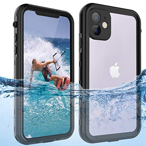 ShellBox Unterwassergehäuse für iPhone 11 (6.1inch) Unterwasser, Lebensnachweis, Stoßfest, Staubdicht, Kratzfest, Ganzkörper 360 ° Schutzhülle, IP68 Standard Wasserdichter Handy-Schutz schwarz